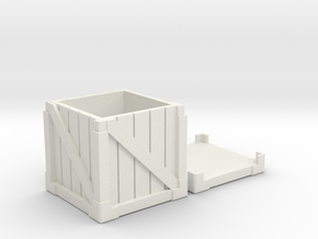 Wood and metal crate in White Natural Versatile Plastic
