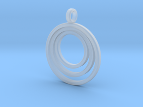 Circle Necklace_3 rings_1 inch v1 in Smooth Fine Detail Plastic: Medium