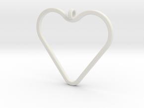 Heart_necklace 1 v1 in White Natural Versatile Plastic: Medium