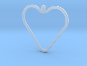 Heart_necklace 1 v1 in Smooth Fine Detail Plastic: Medium