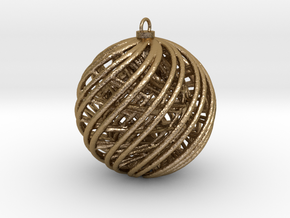 Christmas Ornament A in Polished Gold Steel
