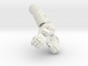Fireborn UGAL - Left Arm in White Natural Versatile Plastic