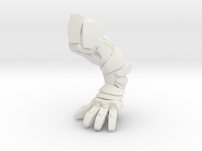 Titan Body Right Arm in White Natural Versatile Plastic