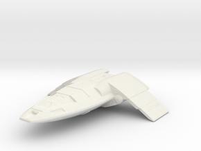 fighter shuttle wings extended in White Natural Versatile Plastic