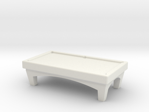 N Scale Pool Table in White Natural Versatile Plastic