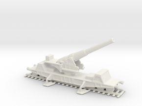 British  bl 9.2 MK 13 1/285 railway artillery ww1  in White Natural Versatile Plastic