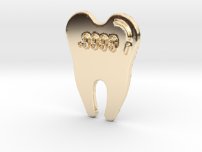 Gold Tooth Pendant in 14K Yellow Gold