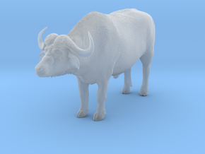 Cape Buffalo 1:12 Standing Male 3 in Smooth Fine Detail Plastic