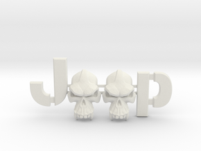 #CuzitsCustom Evil Monkey Skulls (SM-Willys) in White Natural Versatile Plastic