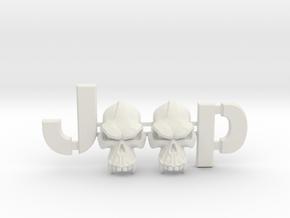 #CuzitsCustom Evil Monkey Skulls (LG-Willys) in White Natural Versatile Plastic