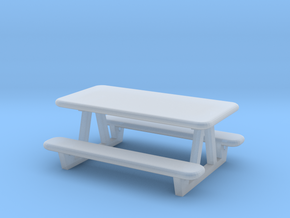picnic table N scale in Smooth Fine Detail Plastic