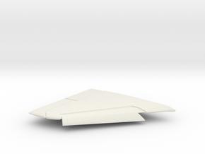 A-4F-144scale-04-RightWing-SlatsDown in White Natural Versatile Plastic