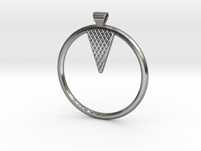10-90 Pendant in Polished Silver