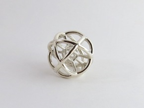 The Sphere in Polished Silver