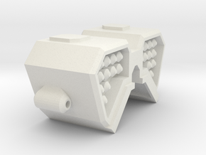 V-wing Missile Launcher in White Natural Versatile Plastic