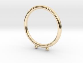Umlaut Ring 1 - ö in 14k Gold Plated Brass: 3 / 44