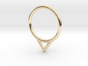 Umlaut 7 ô in 14k Gold Plated Brass: 3 / 44