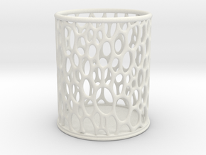 voronoi crayon holder in White Natural Versatile Plastic
