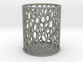 voronoi crayon holder in Gray Professional Plastic