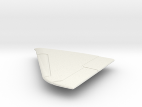 A-4M-144scale-03-LeftWing-SlatsUp in White Natural Versatile Plastic