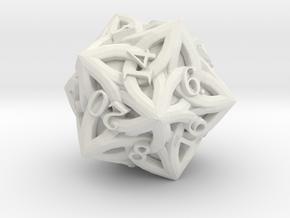 Celtic D20 - Solid Centre for Plastic in White Premium Versatile Plastic