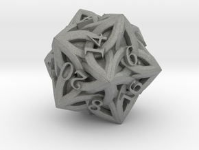 Celtic D20 - Solid Centre for Plastic in Gray PA12