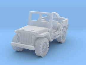 Jeep Willys scale 1/87 in Smooth Fine Detail Plastic