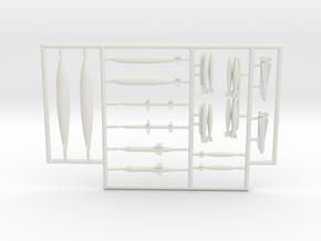 OA-4M-144scale-07-Fret2 in White Natural Versatile Plastic