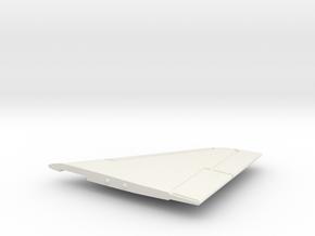 TA-4F-144scale-02-RightWing-SlatsUp in White Natural Versatile Plastic