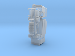 DAF A50 roltrommel vuilniswagen  variant 3 in Smooth Fine Detail Plastic