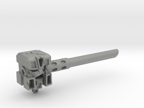 Ignoble Foe - 5mm Makeshift Battle Hammer  in Gray Professional Plastic