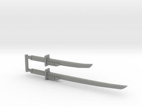 Bludgeon Swords (Katana and Wakizashi) 3mm Grip in Gray PA12