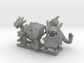 PokeFusion Minis - Set of 5 in Gray Professional Plastic