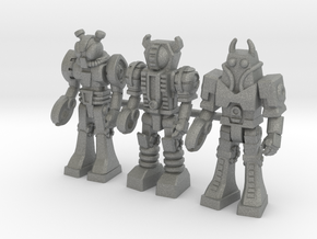 Waruders at Attention, 3 35mm Minis in Gray Professional Plastic