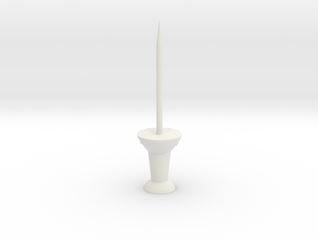 "Super Long Thumbtack Pushpin (1"" Long) in White Natural Versatile Plastic"