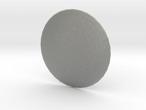 Round Custom Symbol Shield, 4mm in Gray PA12