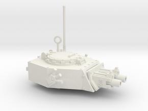 28mm APC turret x2 gyroject guns  in White Premium Versatile Plastic