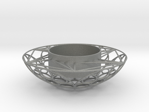 Round Tealight Holder in Gray PA12