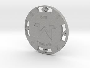 Monero Poker Chip 250 in Aluminum
