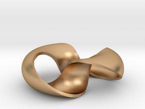 pendant toroidal geodesic shell 1 2 in Natural Bronze