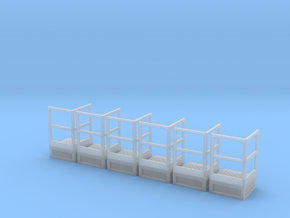 1/64 Stair Platform for 10' Tower 6pc in Smooth Fine Detail Plastic