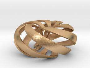pendant toroidal geodesic shell 5 6 in Natural Bronze