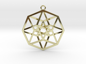 4D Hypercube (Tesseract) in 18K Gold Plated