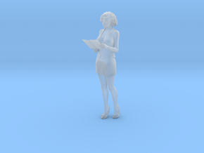 O Scale woman with notepad in Smooth Fine Detail Plastic