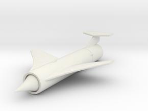 (1:144) Trommsdorff D6000 Ramjet Missile in White Natural Versatile Plastic