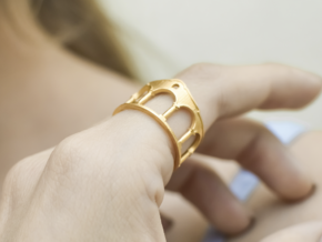 Hacienda Ring in 14k Gold Plated Brass: 6.5 / 52.75