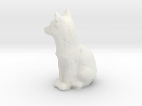 S Scale fox in White Natural Versatile Plastic