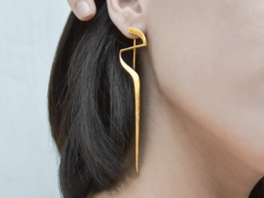 Sharp Edges Earring in 14k Gold Plated Brass
