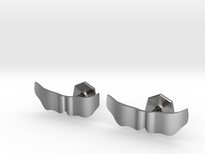 The Mario Mustache Cufflinks in Polished Silver