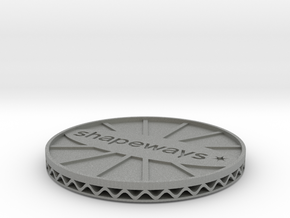 coaster shapeways in Gray PA12